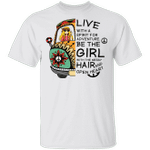 Live With A Spirit For Adventure Hippie Girl T-shirt MT04