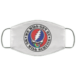 Grateful Dead We Will Get By We Will Survive Face Mask Hippie Style VA05