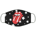 The Rolling Stones Face Mask Stars Pattern Style HA06