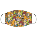 Scooby Doo Characters Pattern Face Mask HA06