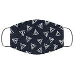 Harry Potter Deathly Hallows Pattern Face Mask HA06