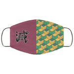 Giyu Tomioka Demon Slayer Face Mask Costume Fabric Style HA06