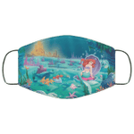 Ariel Little Mermaid Face Mask Under The Sea HA06