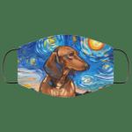 Dachshund Van Gogh Painting Face Mask HA06