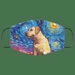 Labrador Retriever Van Gogh Painting Face Mask HA06