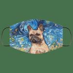 French Bulldog Van Gogh Painting Face Mask HA06