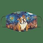 Bulldog Van Gogh Painting Face Mask HA06