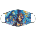 Rottweiler Van Gogh Painting Face Mask HA06