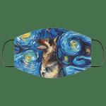 German Shepherd Van Gogh Painting Face Mask HA06