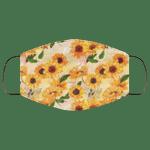 Hippie Sunflower Face Mask Pattern Style HA06