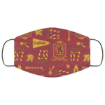 Gryffindor Face Mask Harry Potter House Pattern Style HA06