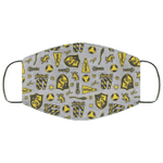 Hufflepuff Face Mask Harry Potter House Pattern Style HA06