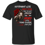 September Girl T-shirt Don't Ever Try To Get Inside My Head Tee