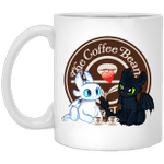 Toothless And Light Fury Drinking The Coffee Beans & Tea Leaf T-shirt Coffee Tee MT05