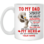 To My Dad My Hero White Mug For Special Father's Day Gift VA05