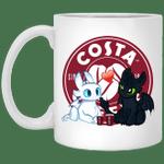 Toothless And Light Fury Drinking Costa T-shirt Coffee Tee MT05-Amazingfairy.com