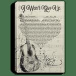 Jason Mraz I Won't Give Up Lyrics Canvas Poster Music Poster VA06-Amazingfairy.com