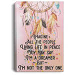 Imagine All The People Living Life In Peace Hippie Dreamcatcher Canvas Poster VA06