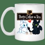 Toothless And Light Fury Drinking Peet's T-shirt Coffee Tee MT05