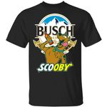 Scooby Doo Drinking Busch T-Shirt Beer Tee MT05-Amazingfairy.com