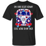 On A Dark Desert Highway Blue Jays T-Shirt Basketball Tee-Amazingfairy.com