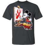 Blood Cancer Ribbon T-Shirt Mickey Painting Tee TT09-Amazingfairy.com