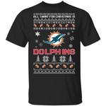 All I Want For Christmas Is Dolphins T-Shirt Santa Tee HA09-Amazingfairy.com