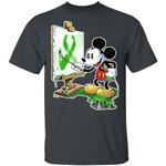 Mental Health Awareness Ribbon T-Shirt Mickey Painting Tee TT09-Amazingfairy.com