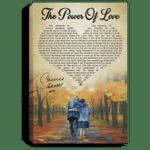 The Power Of Love Celine Dion Canvas Poster For Couples VA04-Amazingfairy.com