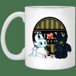 Toothless And Light Fury Drinking Tully's T-shirt Coffee Tee MT05-Amazingfairy.com