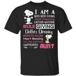 I Am A Boo Boo Fixing Superhero Aunt T-shirt Snoopy Tee HA03-Amazingfairy.com