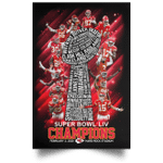 Chiefs Poster Super Bowl Champions Names On Trophy Poster MN02-Amazingfairy.com
