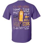 Kobe Bryant T-shirt Basketball Legend Achievements Tee