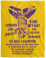 Kobe Bryant Blanket Le8ends Live 24ever The Black Mamba Fan Gift-Amazingfairy.com