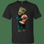 Baby Groot love Patriots Football team T-Shirt-Amazingfairy.com