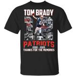 Tom Brady T-shirt Patriots 2000 - 2020 Tee MT03-Amazingfairy.com