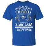 I'm A Grumpy Old Man T-shirt Birthday I Was Born In August Tee