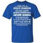 Yes I'm A Spoiled Grandson T-shirt Birthday She Was Born In December Tee