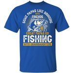 Fishing T-shirt Great Papas Go Fishing With Granddaughters Tee