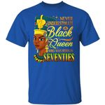 Never Underestimate An Egyptian Queen Born In Seventies T-shirt