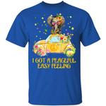 I Got A Peaceful Easy Feeling T-shirt Elephant Hippie Tee