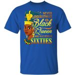 Never Underestimate An Egyptian Queen Born In Sixties T-shirt