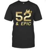 60 Years Old Shirt Men Epic 52nd Birthday Gift King Crown Tee