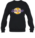 Girl Dad 24 Love Basketball Family Crewneck Sweatshirt Tee