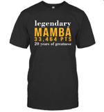 Legendary Mamba 33,464 PTS 20 Years Of Greatness Family Shirt Tee