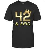 Shirt For Men Epic 42nd Birthday Gift King Crown Tee