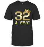 Shirt For Men Epic 32nd Birthday Gift King Crown Tee