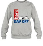 Snoopy Dad's Day Off Sleeping Crewneck Sweatshirt For Father