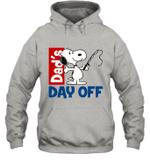 Snoopy Dad's Day Off Fishing Hoodie Sweatshirt Outdoor Activity