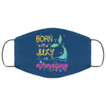 Born In July And Mermazing Face Mask Mermaid Birthday